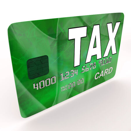 excise: Tax On Credit Debit Card Showing Taxes Return IRS