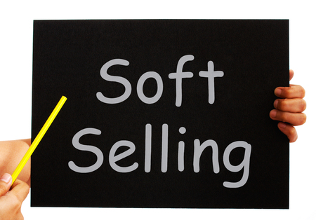 endorsing: Soft Selling Blackboard Meaning Casual Advertising Technique