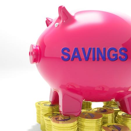 bankkonto: Einsparungen Piggy Bank Bedeutung Ersatzfonds und Bankverbindung