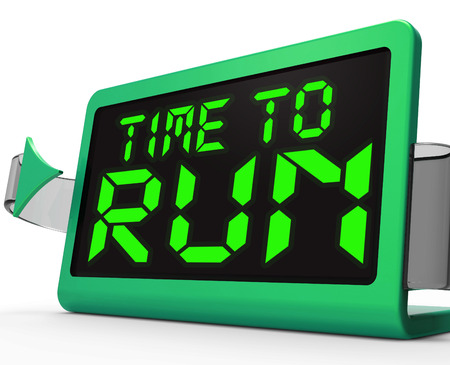 Time To Run Clock Meaning Under Pressure And Must Leave