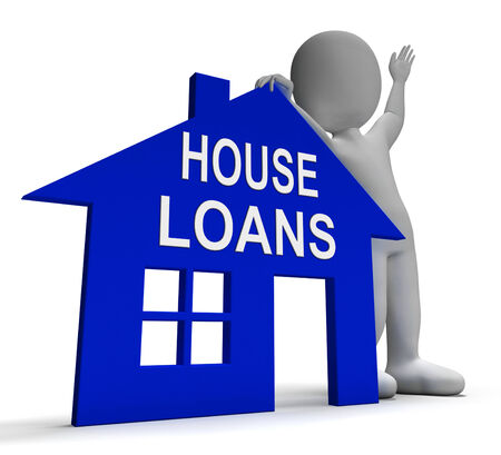 borrowing: House Loans Home Showing Borrowing Repayments And Interest
