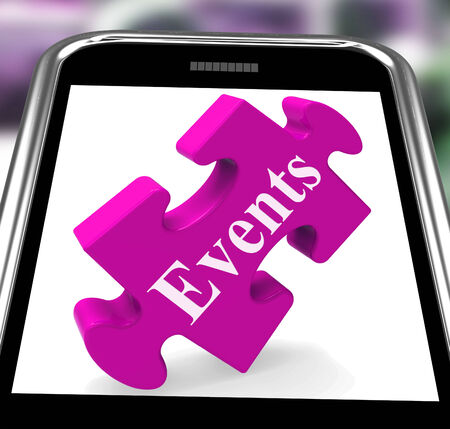 happening: Events Smartphone Showing Calendar And Whats On