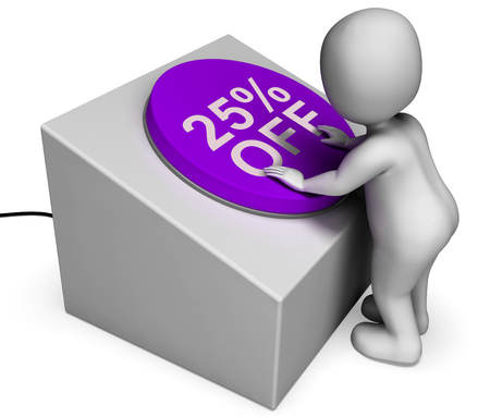 Twenty Five Percent Off Button Meaning 25 Discount photo