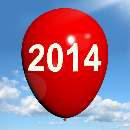 two thousand and fourteen: Two Thousand Fourteen on Balloon Showing Year 2014