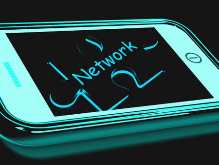 Network Smartphone Showing Connecting And Communicating On Web