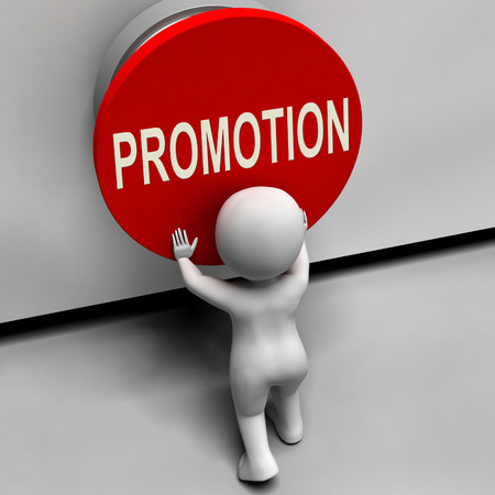 job promotion: Promotion Button Showing New And Higher Role