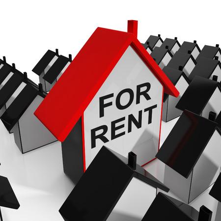 En Renta Casa Significado Leasing Para Inquilinos Foto de archivo - 26962764