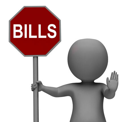 bill payment: Bills Stop Sign Meaning Stopping Bill Payment Due