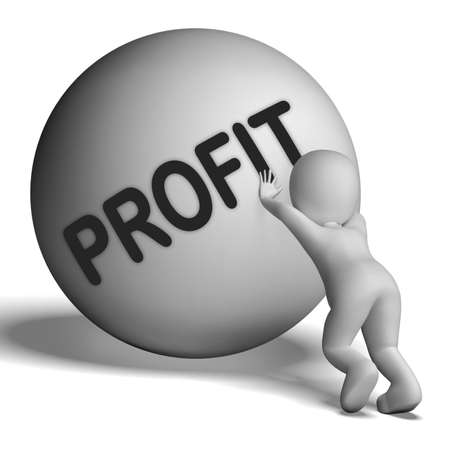 Profit Uphill Character Showing Cash Wealth Revenue photo