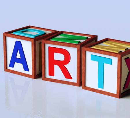 originality: Art Blocks Showing Inspiration Creativity And Originality