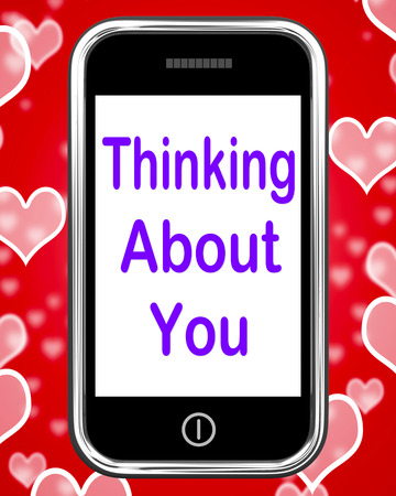 Thinking About You On Phone Meaning Love Miss Get Well photo