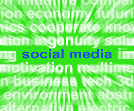 tumblr: Social Media Words Meaning Online Networking Blogging And Comments Stock Photo