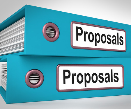 Proposals Folders Meaning Suggesting Business Plan Or Project