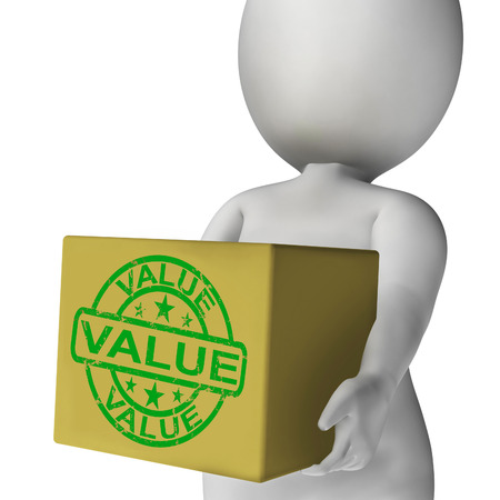 Value Box Meaning Quality And Worth Of Goods photo