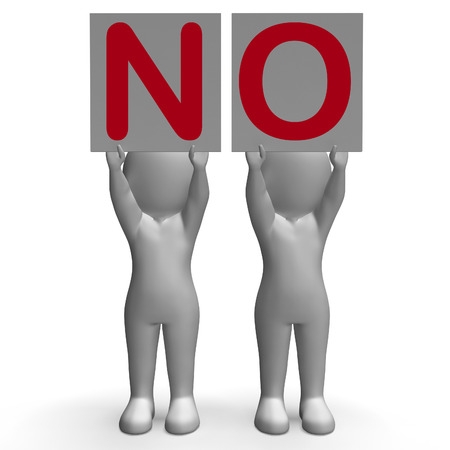 veto: NO Banners Showing Complete Denial Refusal And Rejection