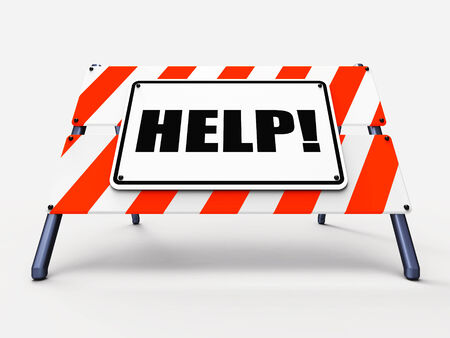 seeking an answer: Help Sign Referring to Assistance Wanted and Seeking Answers