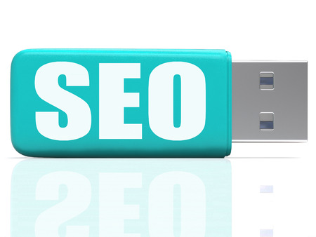 pen drive: SEO Pen drive Meaning Online Search Optimization And Development Stock Photo
