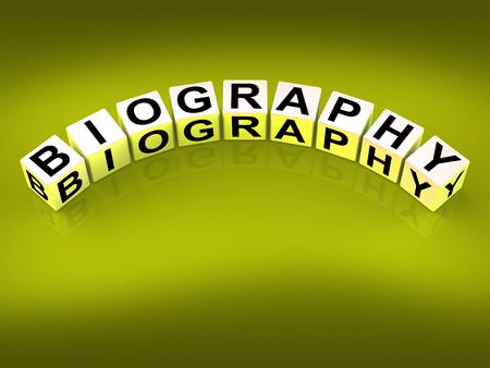 biography: Biography Blocks Representing Writing a Memoir or Life Story