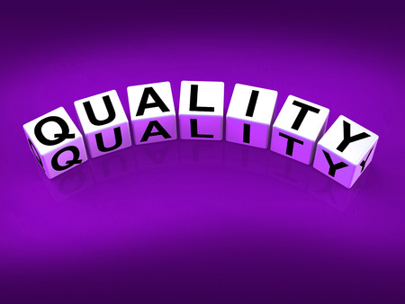 traits: Quality Blocks Meaning Qualities Traits and Aspects Stock Photo