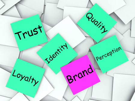 branded: Brand sticky note Meaning Trademark And Identity