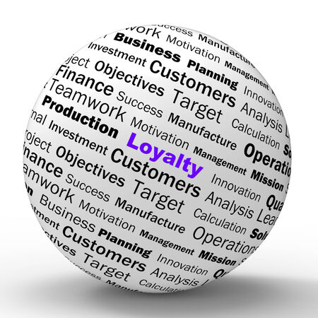 trustworthiness: Loyalty Sphere Definition Showing Honest Fidelity Integrity And Reliability