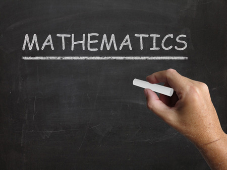 Mathematics Blackboard Meaning Geometry Calculus Or Statistics