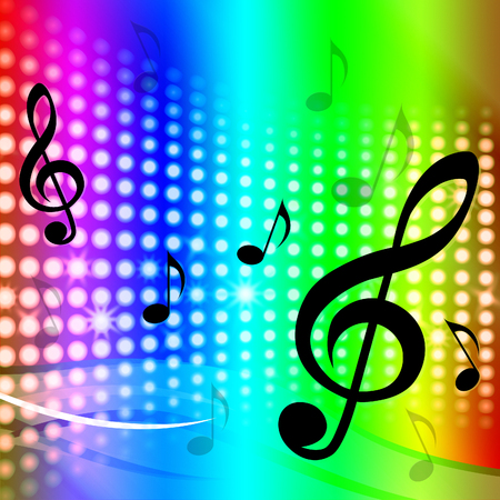 melodies: Treble Clef Background Meaning Artistic Melodies And Sounds