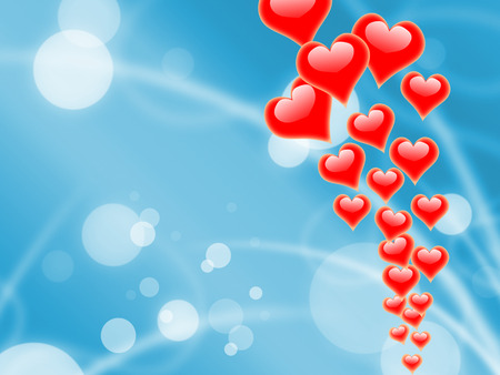 peacefulness: Hearts On Sky Showing Romantic Freedom Or Peacefulness Stock Photo