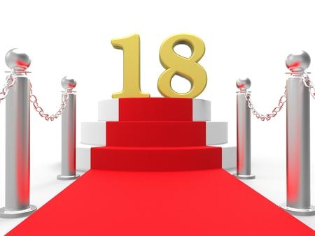 eighteen: Golden Eighteen On Red Carpet Meaning Celebrity Eighteenth Birthday Party