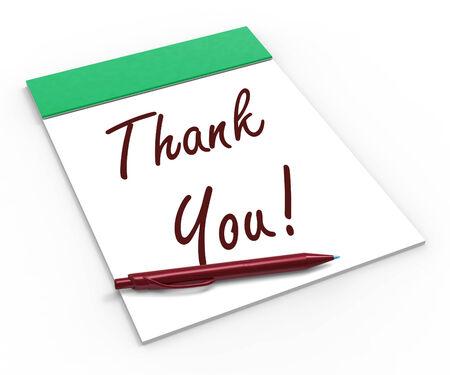 agradecimiento: �Gracias! Notebook Significado Reconocimiento Gratitud O Agradecimientos Foto de archivo
