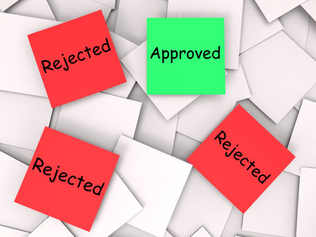 Approved Rejected Notes Meaning Approval Or Rejection Stock Photo - 27899595