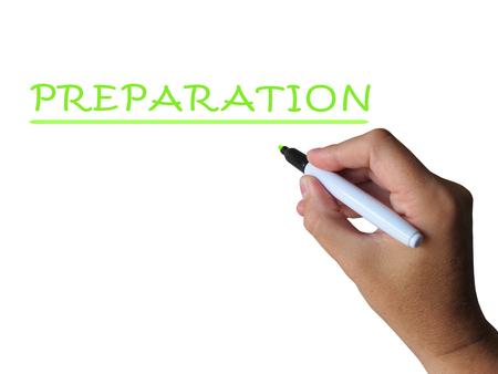 pr�voyance: Pr�paration mot Signification de pr�paration de pr�paration et de pr�voyance