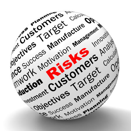 heavy risk: Risks Sphere Definition Showing Insecurity Threatening And Financial Risks