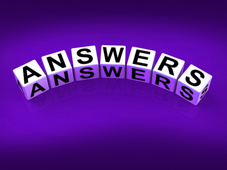 responded: Answers Blocks Representing Responses and Solutions to Questions Stock Photo