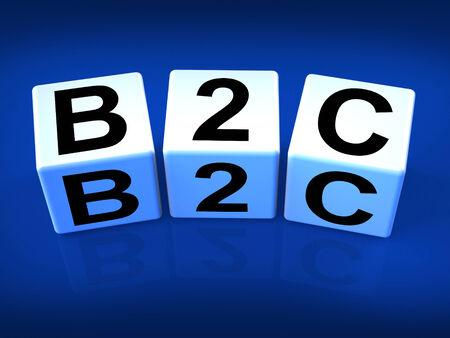 b2c: B2C Blocks Representing Business and Commerce or Consumer
