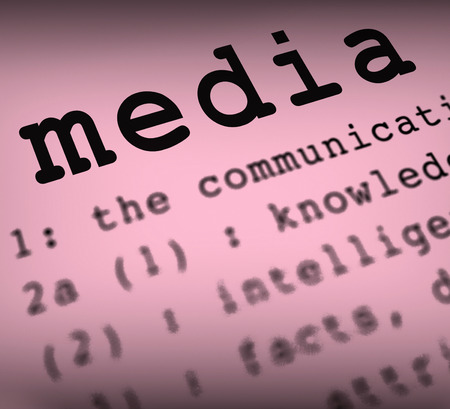 Media Definition Showing Social Media Journalism Or Multimedia