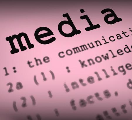 Media Definition Showing Social Media Journalism Or Multimedia 版權商用圖片 - 27896158