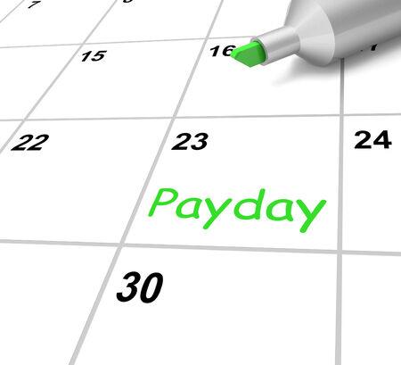 remuneraci�n: Payday Calendario Significado Recepci�n de Ingresos para el trabajo
