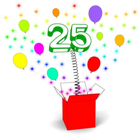 twenty five: Number Twenty Five Sorpresa Caja Significado Hermosa creatividad y sorpresa