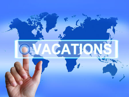 sabbatical: Vacations Map Meaning Internet Planning or Worldwide Vacation Travel