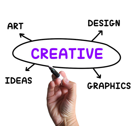 Creative Diagram Showing Ideas Artistic And Designing
