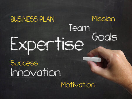 proficiency: Expertise on Chalkboard Indicating Expert Skills Proficiency and Capability