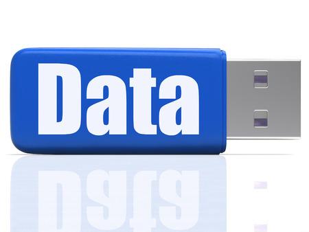 dataflow: Pen Drive Data Mostrando Digital archivos de almacenamiento y de flujo de datos