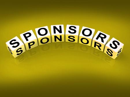 advocates: Sponsors Blocks Representing Advocates Supporters and Benefactors