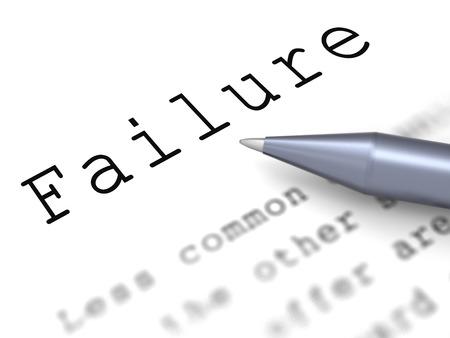başarısız: Arıza Kelime gösteriliyor Beceriksiz Başarısız Veya eksik Stok Fotoğraf