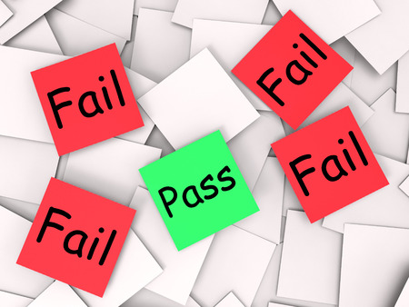 unsatisfactory: Pass Fail Notes Showing Acceptable Or Unsatisfactory