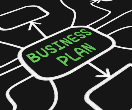 Business Plan Diagram Meaning Goals And Strategies For Company photo