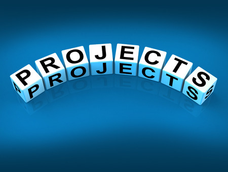 Projects Blocks Representing Ideas activities Tasks and Enterprises Stock Photo - 27899837