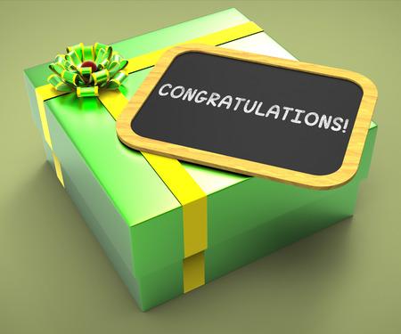 accomplishments: Congratulations Present Card Showing Accomplishments And Achievements
