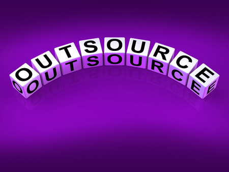 Outsource Blocks Showing Outsourcing and Contracting Employment